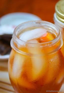 Refreshing Summer Peach Ice Tea