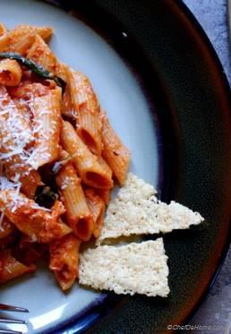 Pasta - Penne Rosa in Tomato-Cream Wine Sauce