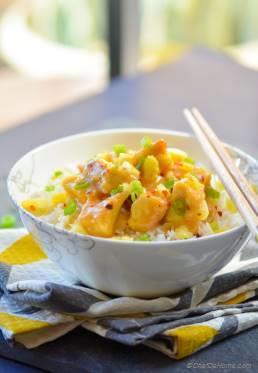 Vegan Chinese Pineapple Tofu Bowl