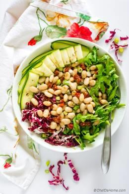 Tuscan White Bean Salad with Arugula