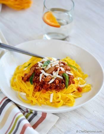 Step for Recipe - Cannellini Beans Ragu Fettuccine Pasta