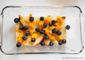 Step for Recipe - Mango Blueberry Bread Pudding