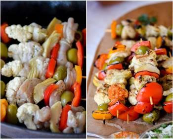 Step for Recipe - Grilled Chicken Kabobs with Romesco Sauce - Mother's Day Special
