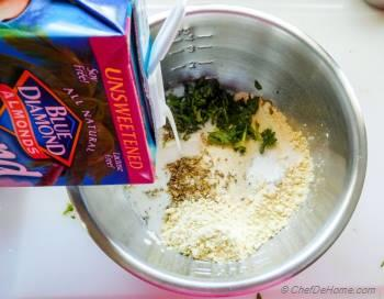 Step for Recipe - Vegan Chickpea Flour and Spinach Breakfast Omelet