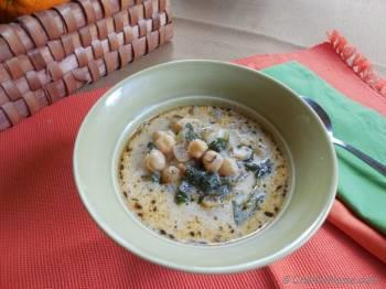 Step for Recipe -  Chickpeas and Spinach Soup