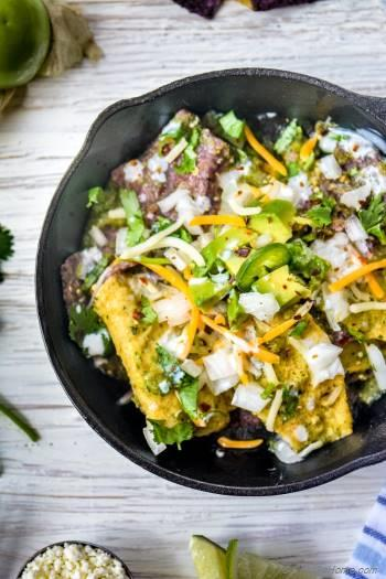 Step for Recipe - Breakfast Chilaquiles Verde - Roasted Tomatillos Salsa