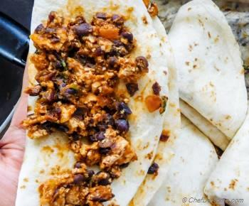 Step for Recipe - Chipotle Sofritas and Black Beans Casserole