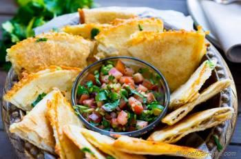 Step for Recipe - Cheesy Baked Tortilla Chips