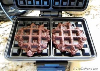 Step for Recipe - Chocolate Churro Waffles