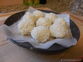 Step for Recipe - Coconut Cardamom Truffles