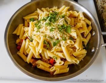 Step for Recipe - Roasted Eggplant and Tomato Penne Pasta