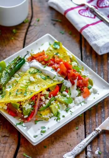 Step for Recipe - Chicken Fajita Omelette