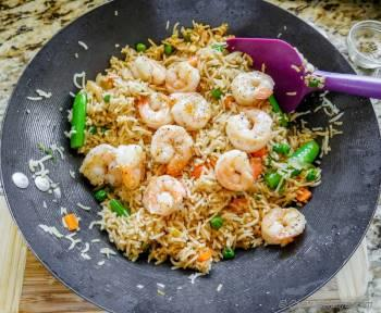Step for Recipe - Spicy Shrimp Fried Rice