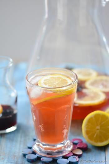 Step for Recipe - Sparkling Hibiscus Lemonade