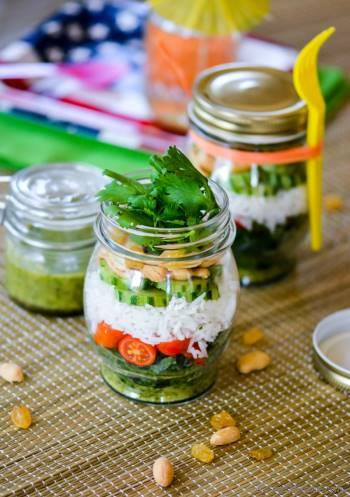 Step for Recipe - Marinated Kale and Rice Salad in a Jar