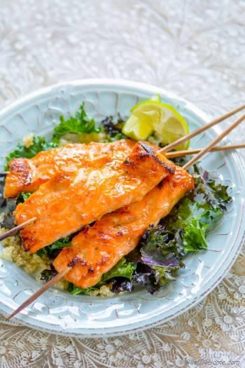 Step for Recipe - Miso Ginger Salmon with Kale and Quinoa