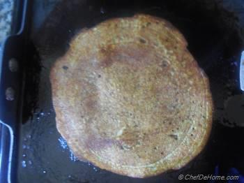 Step for Recipe - Go-Green Mung Lentils, Cilantro-Jalapeno Breakfast Crepes