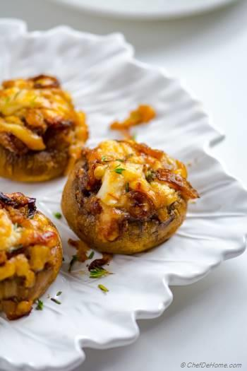 Step for Recipe - French Onion Stuffed Mushrooms
