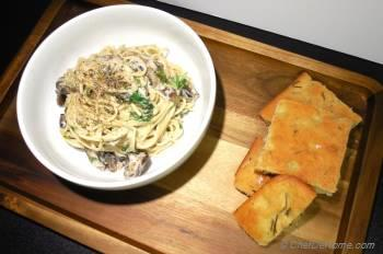 Step for Recipe - Goat Cheese and Mushroom Stroganoff