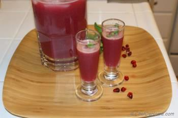 Step for Recipe - Mint infused Orange Pomegranate Punch