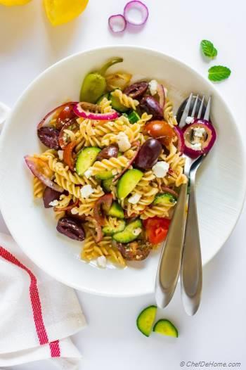 Step for Recipe - Ultimate Greek Pasta Salad
