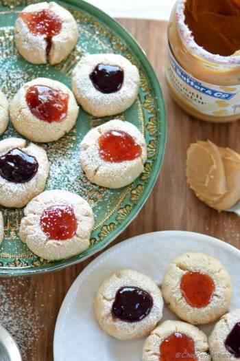 Step for Recipe - Peanut Butter and Jelly Thumbprint Cookies