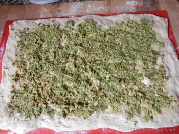 Step for Recipe - Mixed Wheat Bread Spiced with Pistachios-Olives Pesto