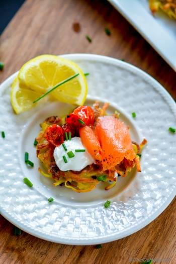 Step for Recipe - Roasted Tomato and Smoked Salmon Potato Latkes