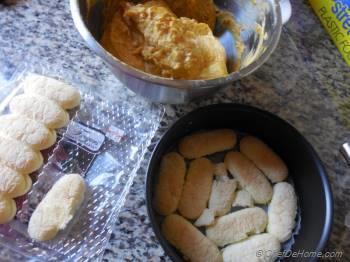 Step for Recipe - Orange Pumpkin Mousse Cake