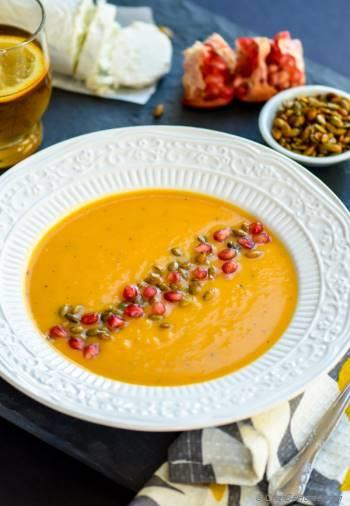 Step for Recipe - Roasted Butternut Squash Soup with Goat Cheese