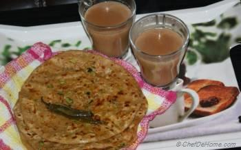 Step for Recipe - Spiced Scallion Flat Bread