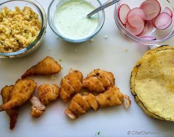 Step for Recipe - Cauliflower Rice Shrimp Tacos with Jalapeno Cream Sauce