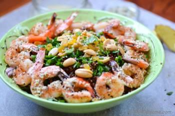 Step for Recipe - Roasted Shrimp and Quinoa Salad with Ginger-Hemp Dressing