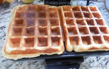 Step for Recipe - Spiced Sour Cream Waffles with Stewed Cranberries