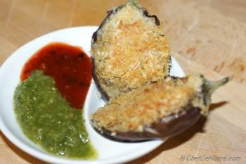 Step for Recipe - Stuffed Baby Eggplant Bites