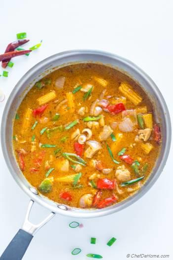 Step for Recipe - Easy Homemade Thai Red Curry