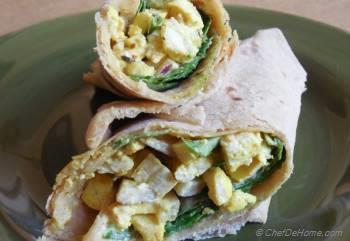Step for Recipe - Vegan Tofu Egg Salad Wrap