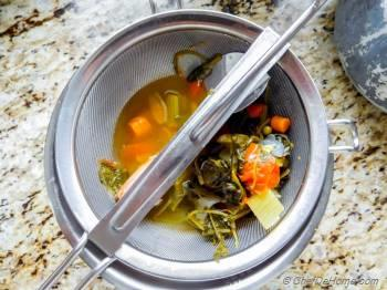 Step for Recipe - Homemade Vegetable Stock in Pressure Cooker