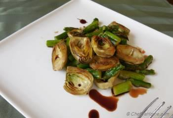 Step for Recipe - Sauteed Baby Artichokes Salad with Balsamic Vinaigrette