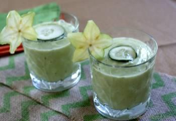 Step for Recipe - Refreshing Green Cucumber, Avocado, and Lime Cooler