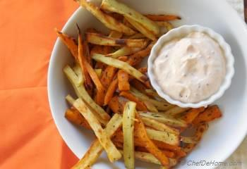 Step for Recipe - Thyme Dusted Baked Sweet Potato Fries