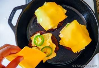Step for Recipe - Nacho Cheese Crunch Black Bean Burger