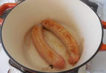 Step for Recipe - Beer Braised Chicken Sausage