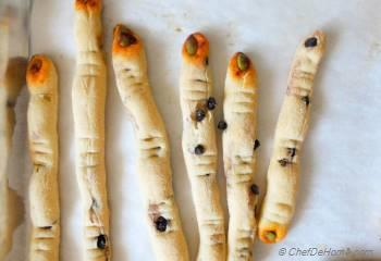 Step for Recipe - Creepy Witch Fingers Bread Sticks for Halloween