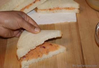 Step for Recipe - Potato Stuffed Bread Pakora