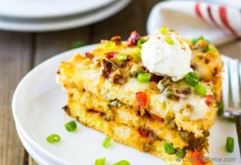 Step for Recipe - Spiced Breakfast Egg Casserole