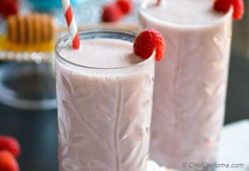 Step for Recipe - Raspberry French Vanilla Carnation Breakfast Shake