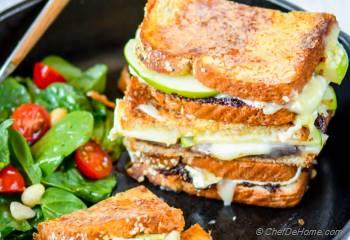 Step for Recipe - Apples and Brie Grilled Cheese Sandwich with Fig Spread