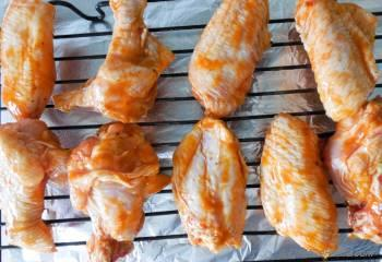 Step for Recipe - Honey Tangerine Buffalo Chicken Wings with Yogurt Ranch Dip