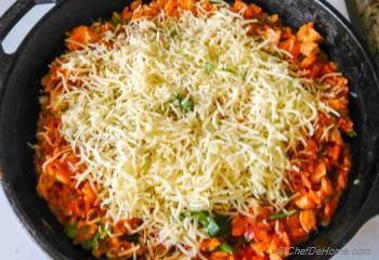 Step for Recipe - One Pot Buffalo Chicken and Rice Casserole